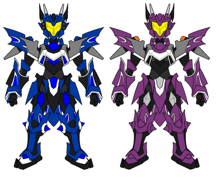 LBX Magna Orthus and Neon Knight by GZneonknight45
