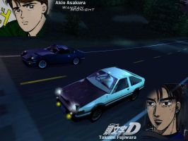 Initial D vs Wangan Midnight by AJ-Lethal