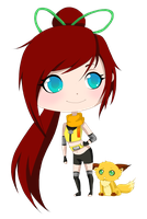 CM: Kimiko and Leeto Chibi by Chloeeh