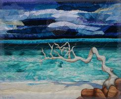 Seascape with Driftwood by suedollinQuilts