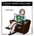 Clooney support charlie hebdo by monstre210