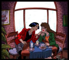 Jane almost kissing Daria by Christo-LHiver
