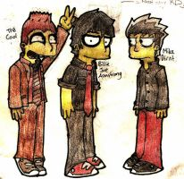 Green Day simpsons style 8D by CheerUpYouEmos1243