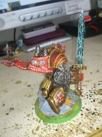 Blood Angels Sanguinary Guard Dreadnought by Danhte