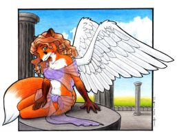 Winged Fox by nalina