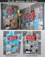7ft x 9ft Wall Puzzle YMCA by dRoop