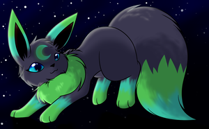 ArtTrade with Avui by FlareAKACuteFlareon