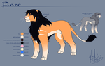 Flare: ref sheet by Kirsui