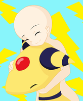 Base 2 Ampharos 1 cuddles by o0Ronnie-Rothwell0o