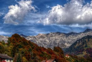 Clouds and Mountains by Antryg-a-Silicon-Sky