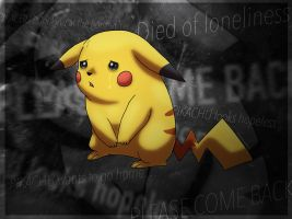 Lonely Pikachu by FireMoon9