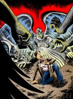 Doctor Who vs. the Weeping Angels by IanJMiller