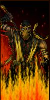 MK9 Scorpion in Hellfire by AIBryce