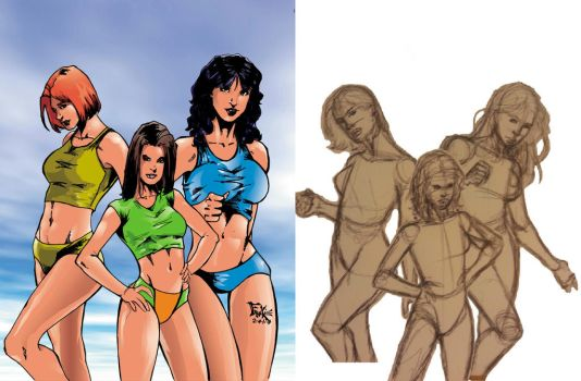 The girls before and after by just-frankie