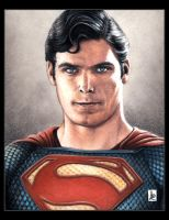 Christopher Reeve, Superman by louissollune