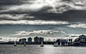 Sailing Port Phillip by addr010