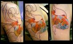 gold fish inprogress by seanspoison