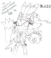 Blaze the Cat (Requested by ~blazefan14) by bgamix34