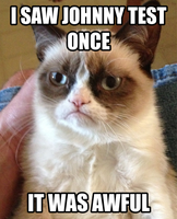 Grumpy Cat's Response to Johnny Test by thekirbykrisis