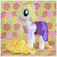 MLP - Tangled's Rapunzel in pony plush form 5 by mihoyonagi