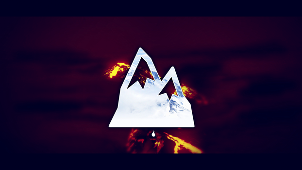 Fire and Ice Mountain Wallpaper by Prollgurke