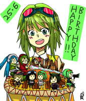 happy (late) birthday gumi! by iSuicideCupcake