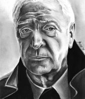 Michael Caine by qshera
