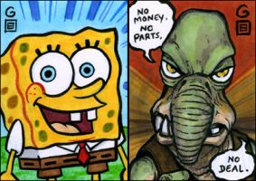 PSCs: SpongeBob and Watto by grantgoboom
