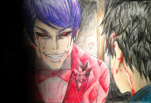 Shuu Tsukiyama and Kaneki Ken by AmosZZ
