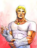 Sketchcard Final Fight Cody by fedde