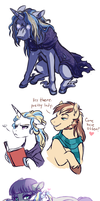 Moondancer Doodles by Lopoddity