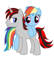 WildCard and Rainbow Dash by JunkiesNewb