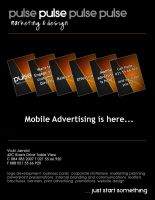 PULSE marketing and design by sacam101
