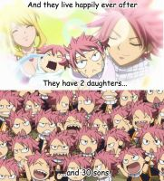 Natsu and Lucy fired up! by Eva-Dudu