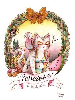 Penelope is in da Place by Pascalou
