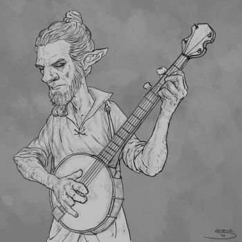[Sketch] Kelley, the Musician by GiovaBellofatto