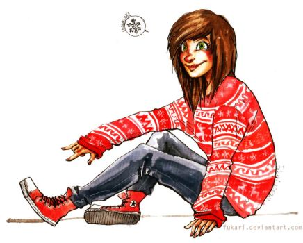 commission - christmas jumper by Fukari
