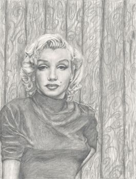 Marilyn Monroe Portrait 2 (Final) by bluecloudcandy