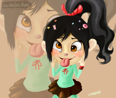 Advent Request #10: Vanellope Von Schweet by FluffableSheep