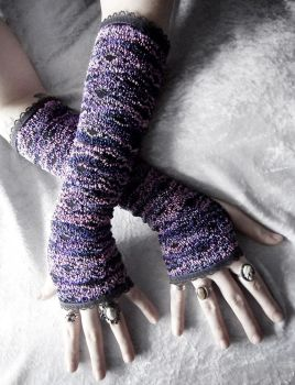 Juneau at Dusk Lace Arm Warmers by ZenAndCoffee