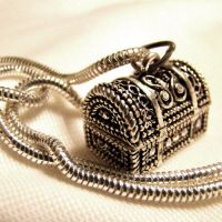 Treasure Chest Locket Necklace by Om-Society
