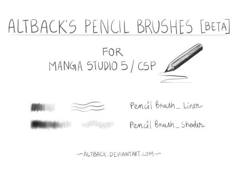 Altback's Pencil Brush Pack [BETA] for CSP by altback