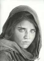 The Afghan Girl by Victari