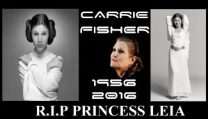 Rip Princess Leia CARRIE FISHER DEAD by EcorynV