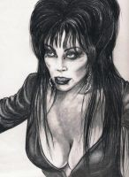 CASSANDRA  PETERSON AS ELVIRA by zombiebe10u