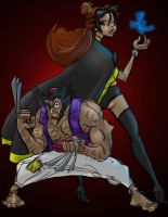 Marvel Disney Wolverine Belle by miro42