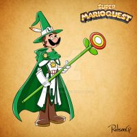 Super Mario Quest - Luigi, the Fearful Mage by RobsonG