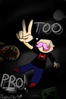 Too PRO! (Markiplier Fanart) by SapphireStar98