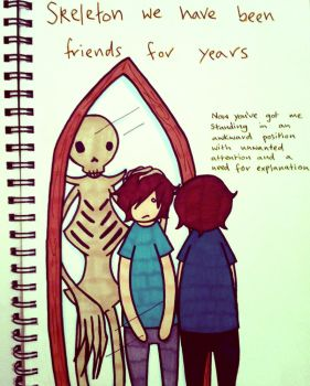 Skeleton We Have Been Friends For Years by Mangaeyes