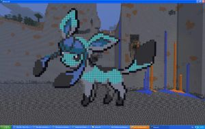 Glaceon On Minecraft by Miccopicco